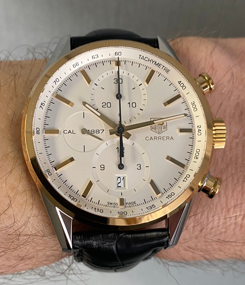 Carrera 1887 Chronograph steel and gold. CAR2150.FC6266