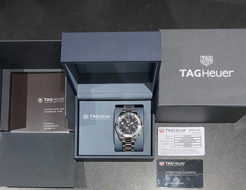 Aquaracer Chronograph CAY211Z.BA0926 Box & papers 2019