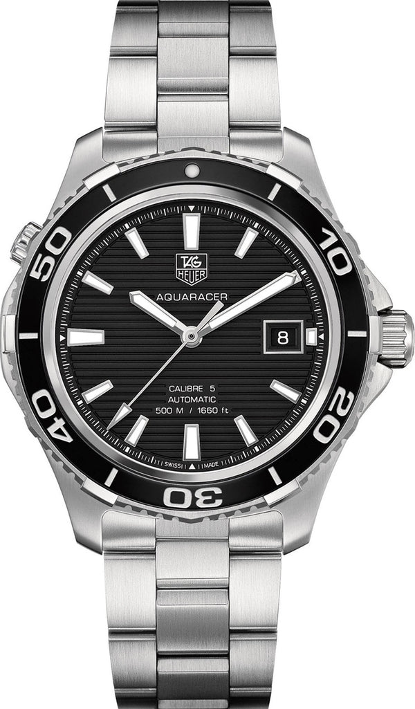 Aquaracer Calibre 5 500M Diver WAK2110.BA0830 Box & papers 2015