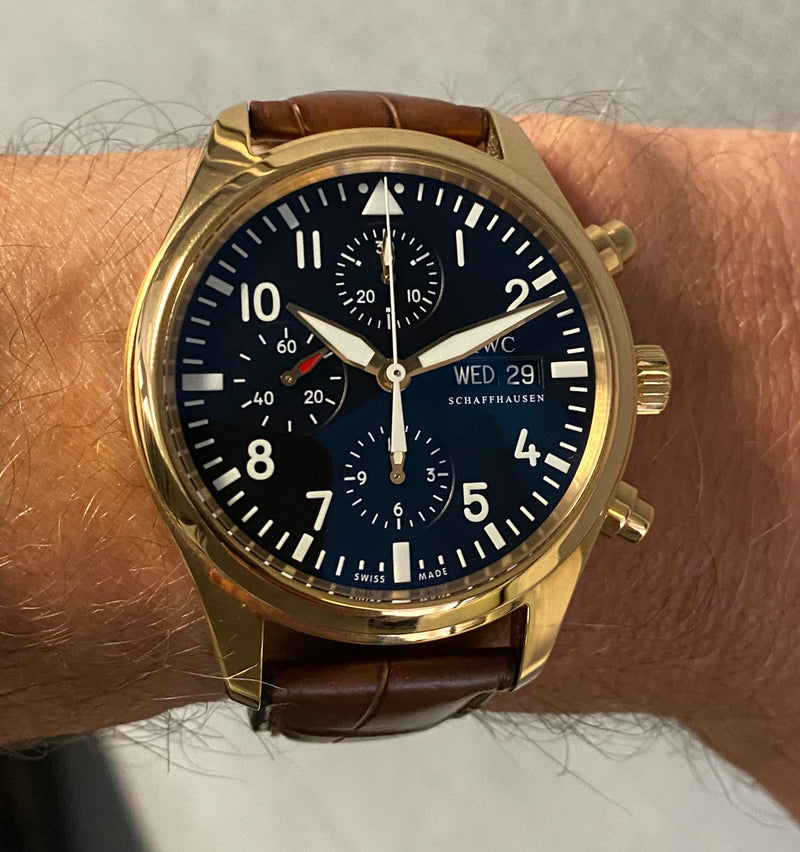 IWC Pilots 18ct Rose Gold  IW371713 IWC serviced 2021 Box & papers 2009