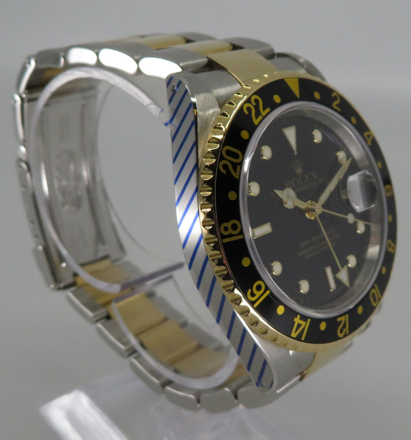 Rolex GMT Master II Steel and Gold 16713