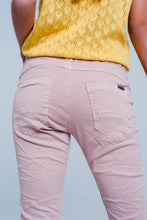Load image into Gallery viewer, Pink Low Rise Boyfriend Jeans