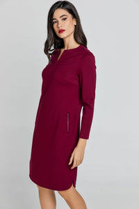 Burgundy Sack Dress by Conquista
