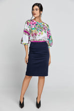 Load image into Gallery viewer, Dark Blue Pencil Skirt