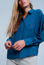 Load image into Gallery viewer, Blouse With Texture in Blue