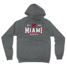 Load image into Gallery viewer, Official NCAA Miami RedHawks Est 1809 Men's / Women's Boyfriend Hoodie RYLMU12