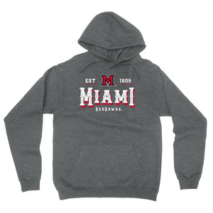 Official NCAA Miami RedHawks Est 1809 Men's / Women's Boyfriend Hoodie RYLMU12