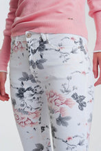 Load image into Gallery viewer, White Super Skinny Pants With Floral Print