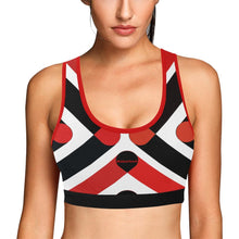Load image into Gallery viewer, Wakerlook Women's Red and Black Sports Bra