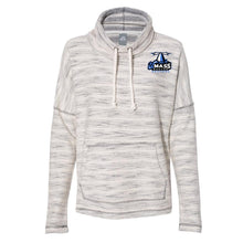 Load image into Gallery viewer, Official NCAA U MASS Boston Beacons PPMASB01 Women's Baja French Terry Cowl Neck Pullover