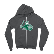 Load image into Gallery viewer, Official NCAA Illinois Wesleyan Titans PPILLW21 Mens / Womens Boyfriend Zip Hoodie