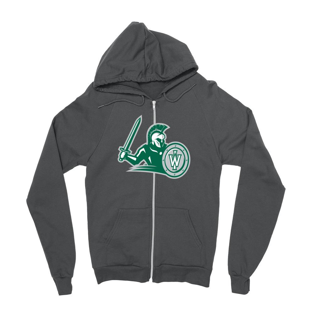 Official NCAA Illinois Wesleyan Titans PPILLW21 Mens / Womens Boyfriend Zip Hoodie