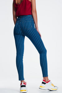 Skinny Jeans With Pinstripe