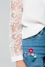 Load image into Gallery viewer, White Shirt With Lace Details