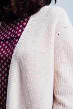 Load image into Gallery viewer, Pink Angora Cardigan With Long Sleeves