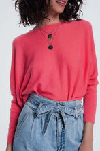 Load image into Gallery viewer, Coral Sweater With Crew Neck Tight Sleeves