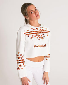 Fashion Women's Wakerlook Cropped Sweatshirt