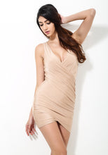 Load image into Gallery viewer, Solid Nude Fitted Party Dress