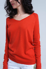 Load image into Gallery viewer, Orange Sweater in Lightweight Knit Fabric