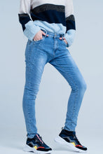 Load image into Gallery viewer, 3d Blue Boyfriend Jeans