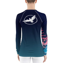 Load image into Gallery viewer, Women's Victory Sleeve Performance Rash Guard UPF 40+