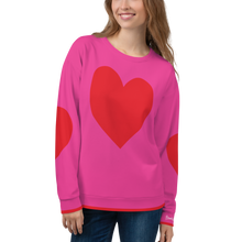 Load image into Gallery viewer, Red Heart Sweatshirt - Pink