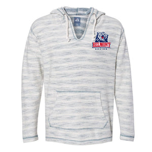 NCAA Belmont University Bruins PPBEL01 Baja French Terry V-Neck Hooded Pullover
