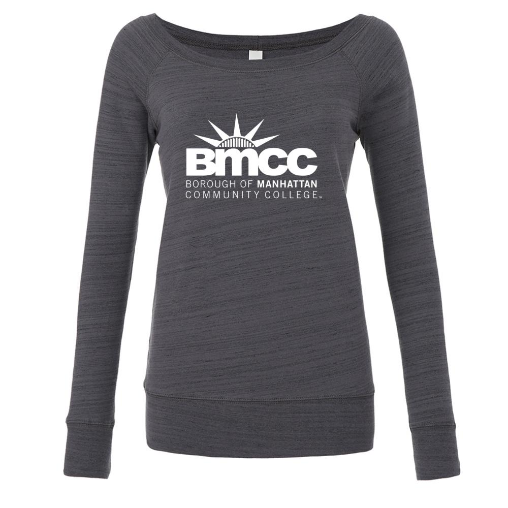 Official NCAA BMCC Panthers PPBMCC04 Women's Fleece Crew Sweatshirt