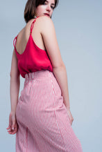 Load image into Gallery viewer, Red Cami Top With Shiny Pattern