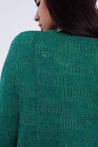 Oversized Green Knitted Sweater