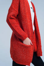 Load image into Gallery viewer, Orange Fleck Knitted Cardigan