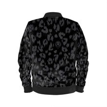 Load image into Gallery viewer, Women's Black Leopard Bomber Jacket
