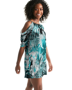 Women's My Sundays Casual Open Shoulder A-Line Dress