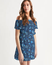 Load image into Gallery viewer, Women's Lightweight Sea Reef Off-Shoulder Belted Dress