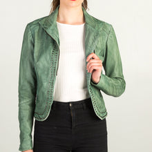 Load image into Gallery viewer, Green Leather Jacket