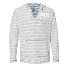 Load image into Gallery viewer, NCAA SUNY Oneonta C59BA01 Baja French Terry V-Neck Hooded Pullover