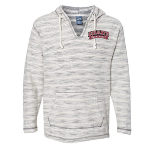 NCAA Colgate Raiders PPCOLG09 Baja French Terry V-Neck Hooded Pullover