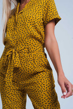 Load image into Gallery viewer, Mustard Jumpsuit in Animal Print