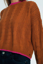 Load image into Gallery viewer, Woven Sweatshirt in Brown