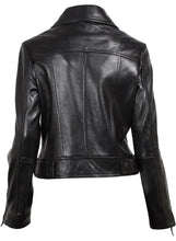 Load image into Gallery viewer, Black Brando Women Leather Jacket