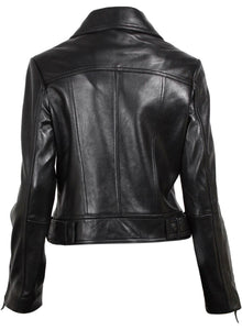 Black Brando Women Leather Jacket