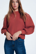 Load image into Gallery viewer, Brown Sweater With Long Sleeves and Round Neckline