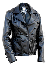 Load image into Gallery viewer, Women Black Punk Leather Jacket
