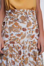 Load image into Gallery viewer, Column Midi Skirt in Jungle Floral Print