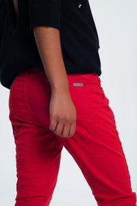 Original Boyfriend Jeans in Red
