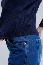 Load image into Gallery viewer, Ribbed Sweater in Navy