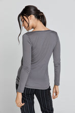 Load image into Gallery viewer, Dark Grey v Neck Top by SWL