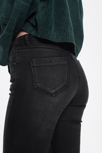 High Waisted Skinny Jeans in Washed Black