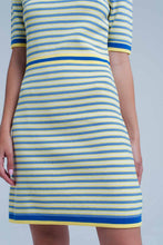 Load image into Gallery viewer, Yellow Striped Knitted Dress