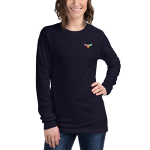 Load image into Gallery viewer, Women's All American Charter Series Navy Crewneck Rainbow Long Sleeve Shirt